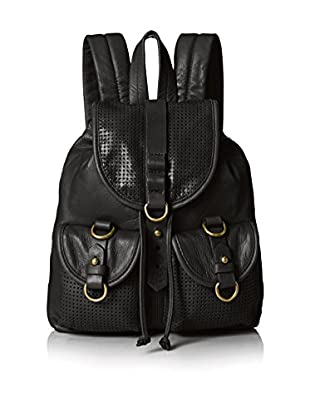 Joelle Hawkens Women's Small Rachel Perforated Small Backpack, Black