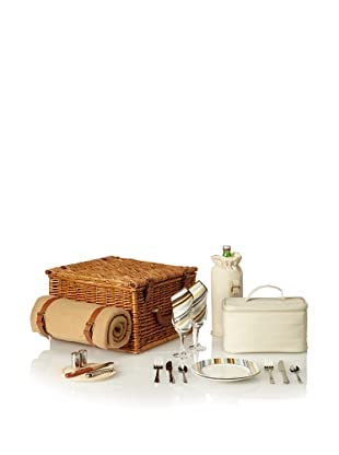 Picnic at Ascot Cheshire Basket for 2 with Blanket, Natural