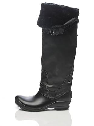 Apepazza Bota Textil/Goma (negro)