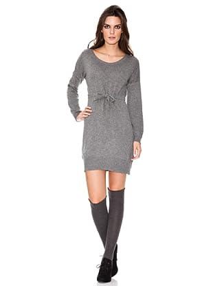 INDI Vestido Punto Con Cinturón (gris vigoré)