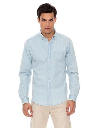 Springfield Camisa Denim Bleach (Azul Denim)