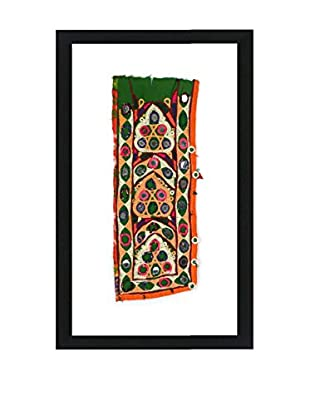 Uptown Down Vintage Framed Tribal Textile, Multi