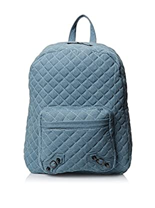Nila Anthony Women's Quilted Denim Backpack, Blue
