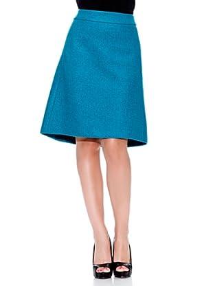 Caramelo Falda Evasé (Azul Verdoso)