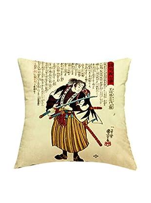 JAPAN MANIA by MANIFATTURE COTONIERE Abwaschbares Kissen Ronin