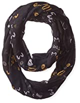 D&Y Women's Halloween Scary Eyes Loop Scarf