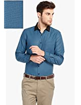 Blue Checked Slim Fit Formal Shirt Mark Taylor