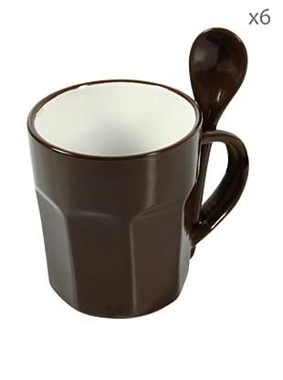 Delys by verceral Lote De 6 Mug Con Cuchara Tamaño Grande