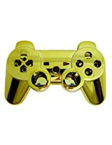 Game Xcel Golden Chrome Finished Replacement Playstation 3 Controller Shell Case Kits Buttons