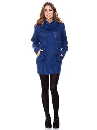 LAVAND Vestido Knit Céntrico (Azul)
