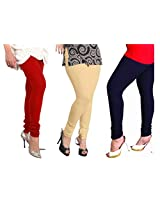 Lux Womens Combo Of Cotton Leggings (Set Of Three) - L 12-18-30