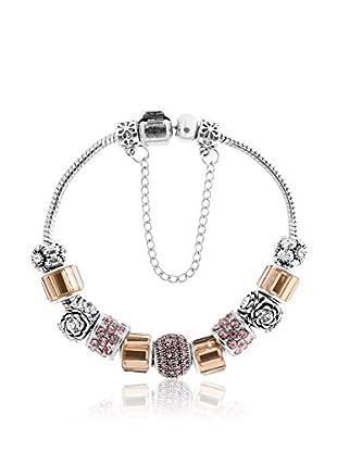 Diamond Style Armband Treasure Ochre Rose/Pink Crystal
