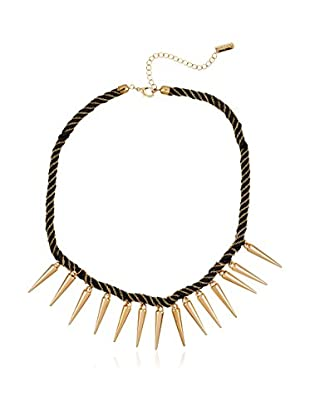 Pepe Jeans London Halskette Black&Gold Necklace With Points