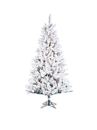 Kurt Adler 7.5' Pre-Lit Flocked Norway Pine Tree