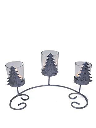 Portavelas Triple Arbol Navidad