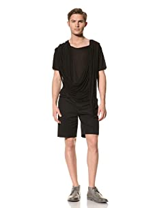 Rochambeau Men's Drape Side Shirt (Black)
