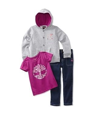 Timberland Girl's Varsity 3-Piece Set (Raw Wash)