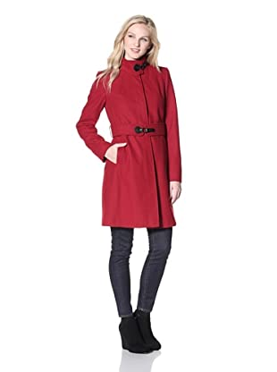 Via Spiga Women's Maria Stand-Collar Coat (Red)