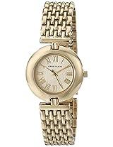 Anne Klein Women's AK/1944CHCB Gold-Tone Watch with Adjustable Link Bracelet
