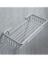 Aluminum Single Layer Storage Rack Rectangle Bathroom Shelf