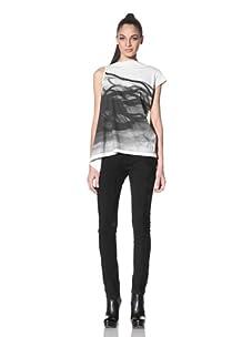 Rick Owens DRKSHDW Women's Graphic Print Shirt (White)