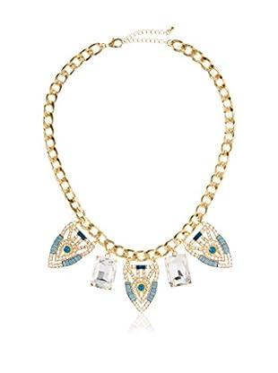 Bijou Multi Pendant & Crystal Necklace