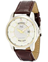 Q&Q Analog Off-White Dial Men's Watch - A184J501Y