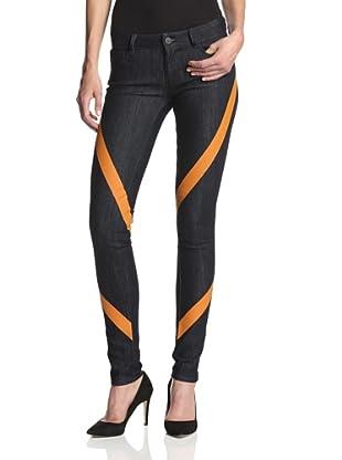 Chalayan-Mavi Women's Serena Skinny Jean (Rinse/Orange Bonded)