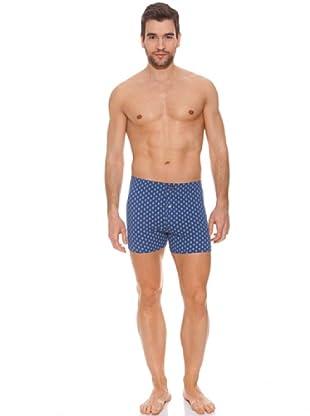 Abanderado Boxer Punto (Azul marino estampado geometrico)