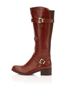 Chocolat Blu Women's Nessa Leather Knee-High Boot (Cognac)