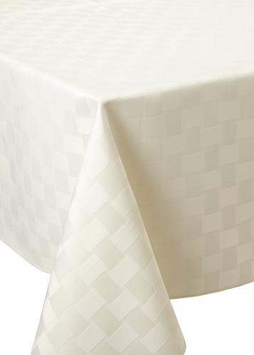 Bardwil Reflections Square Tablecloth (Pearl)