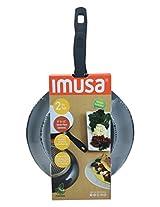 "IMUSA USA IMU-35009 2 Piece Induction Ceramic Saute Pans, 8""/12"", Gray"