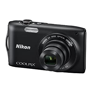 Nikon Coolpix S3300 16MP Point-and-Shoot Digital Camera (Black) with 4GB Card, Camera Pouch