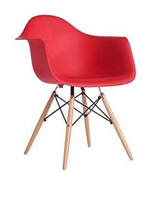 Silla Baby Wooden Arms Color Edition Rojo