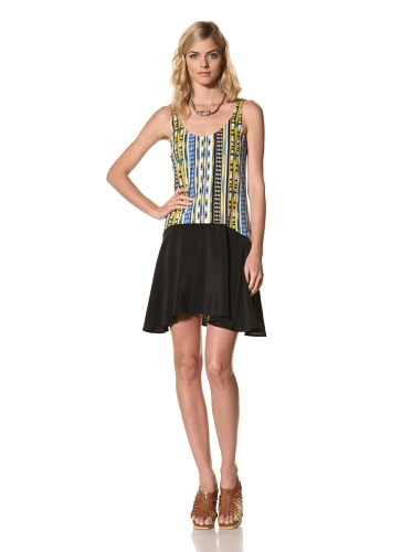 Thakoon Addition Women's Ikat Dress with Solid Skirt (Multicolored)