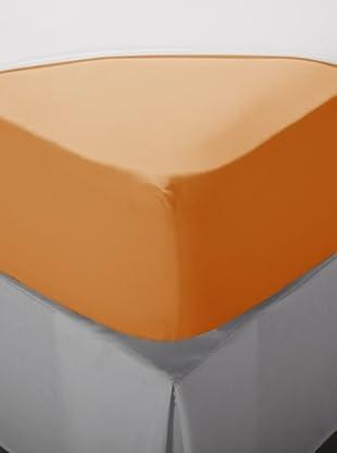 Nido Sábana Bajera Ajustable 100% Algodón (Naranja)