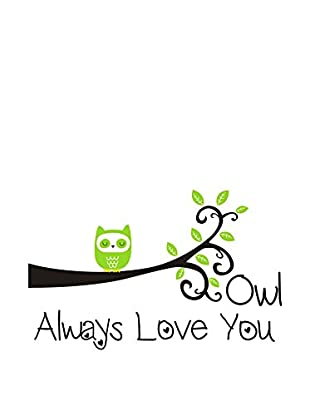 LO+DEMODA Wandtattoo Owl Always Love You