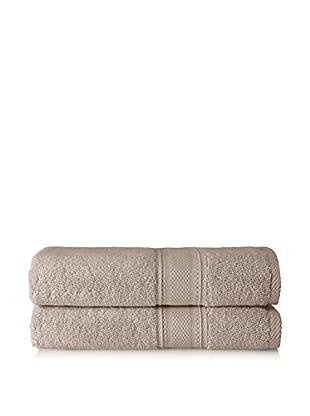 Laura Ashley Leyton Bath Towel Set, Twine, 2 Piece
