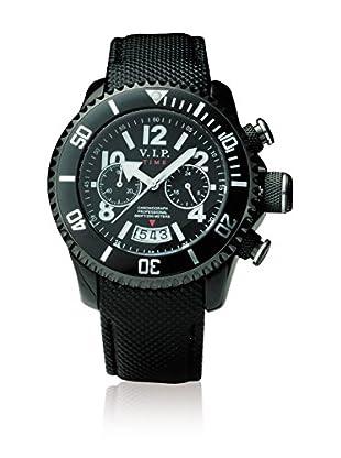 Vip Time Italy Uhr mit Japanischem Quarzuhrwerk VP8004BK_BK schwarz 43.00  mm