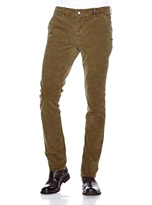 NZA New Zealand Auckland Chino Cordury Stretch Butrinto (Verde Militar)