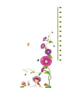 Ambiance Live Vinilo Adhesivo Talla Flores Púrpuras Y Setas