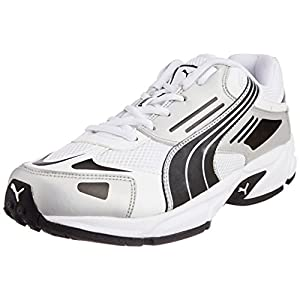 Puma Cat Runner IND White Running Shoes - Silver and Black