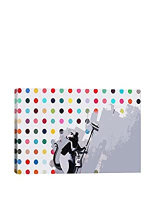 Banksy Rat Spots Damien Hirst Gallery Wrapped Canvas Print