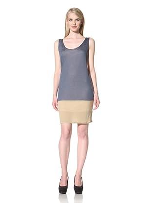 Loomstate 321 Knits Women's Oki Colorblock Dress (Blue/Yellow/Khaki)