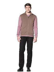 Cruciani Men's Full Zip Vest (Nut)