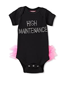 Born 4 Couture Baby High Maintenance Bodysuit with Tail Ruffles (Black)
