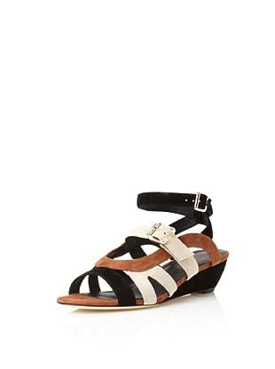 Rebecca Minkoff Women's Nella Colorblock Sandal (Black/Cream)
