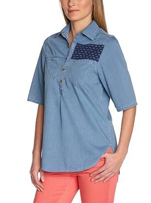 Wrangler Camisa Dot Pasadena Fade (Azul Denim)