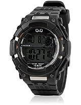 Q&Q Digital Black Dial Men's Watch - M125J001Y