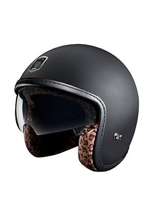 Exklusiv Helmets Casco Racer Black Leopard (Negro)